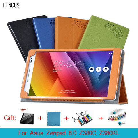"BENCUS  Protective Shell/Skin Z380KL protective Leather Case For Asus Zenpad 8.0  Z380C Z380KL P024 Case 8 "" Tablet PC dormancy"