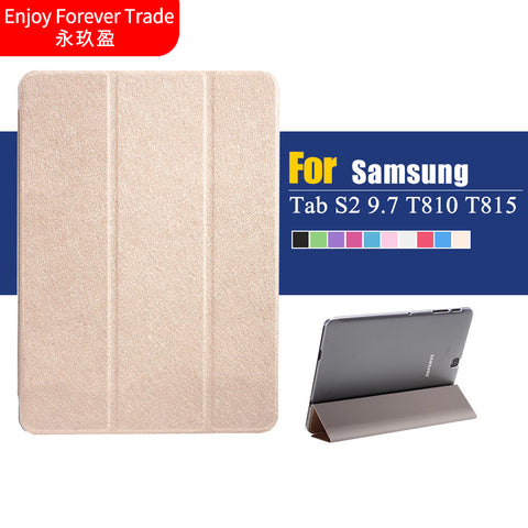 Luxury Ultra Thin Slim Folio Flip Stand For Samsung Galaxy Tab S2 9.7 T810 T815 9.7 inch Tablet Ultra thin Case + Film + pen