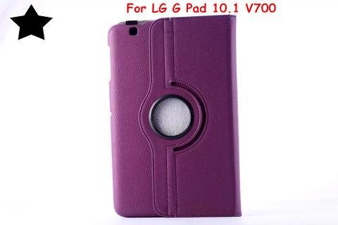 "For For LG G Pad 10.1 V700 Gpad 10.1"" Tablet case 360 degree Rotating Ultra Slim Litchi Pattern PU Leather Case Flip Cover"