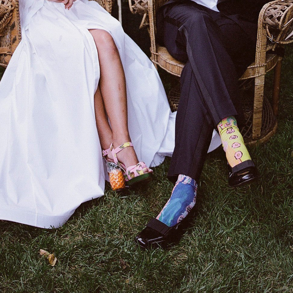 Bride and Groom Wedding Socks