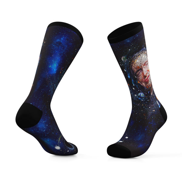 Stephen Hawking Memorial Socks