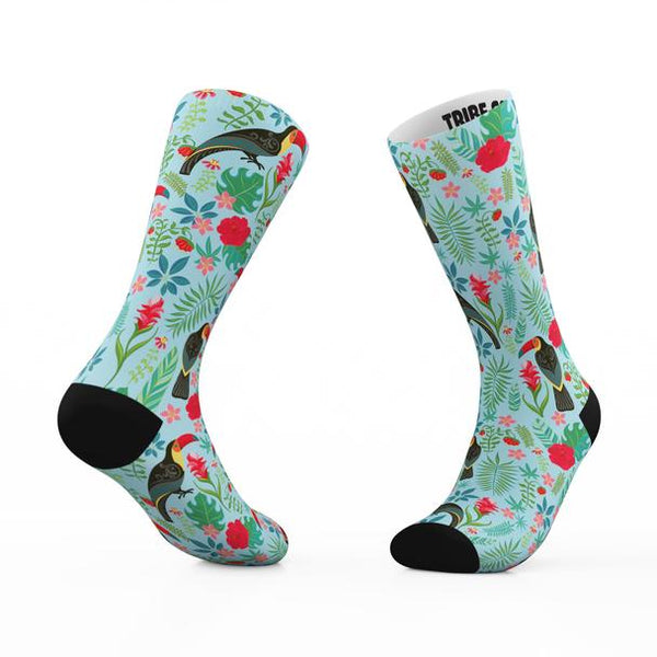 High Speed Digital Polyester Crew Socks
