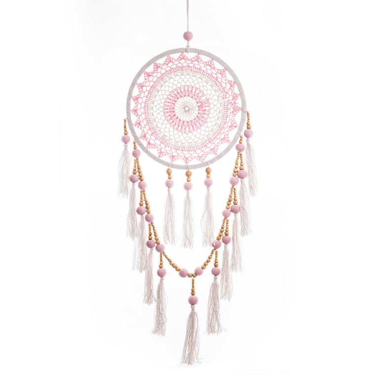 Dream Catcher Tassels & Beads in Pink