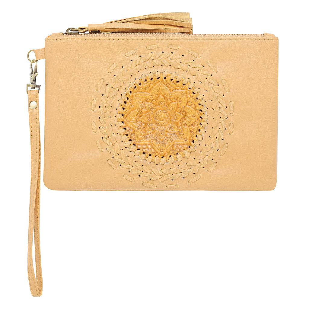 Leather Clutch (Tan)