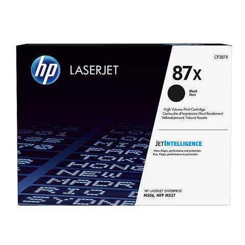 HP 87X (CF287X) LaserJet Enterprise M506 (Flow) MFP M527 Pro M501 High Yield Black Original LaserJet Toner Cartridge (18000 Yield)