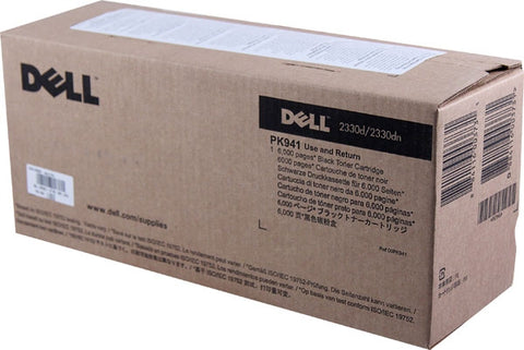 Dell 2330D 2330DN 2350D 2350DN High Yield Use and Return Toner Cartridge (OEM# 330-2650 330-2667) (6000 Yield)