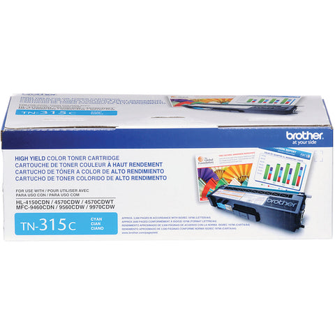 Brother HL-4150CDN 4570CDW 4570CDWT MFC-9460CDN 9560CDW 9970CDW High Yield Cyan Toner Cartridge (3500 Yield)