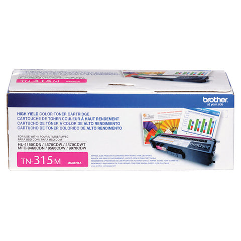 Brother HL-4150CDN 4570CDW 4570CDWT MFC-9460CDN 9560CDW 9970CDW High Yield Magenta Toner Cartridge (3500 Yield)