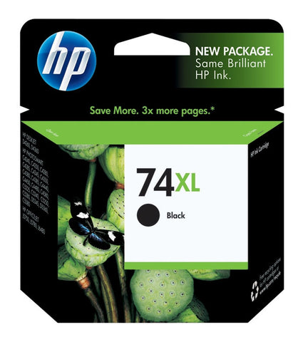 HP 74XL (CB336WN) High Yield Black Original Ink Cartridge (750 Yield)