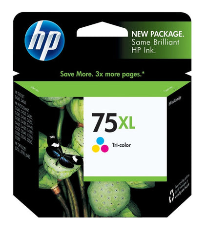 HP 75XL (CB338WN) High Yield Tri-Color Original Ink Cartridge (520 Yield)