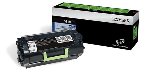 Lexmark (521H) High Yield Return Program Toner Cartridge (25000 Yield)