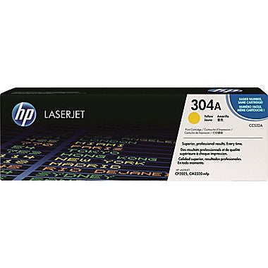 HP 304A (CC532A) Yellow Original LaserJet Toner Cartridge (2800 Yield)