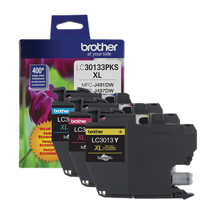 Brother Industries, Ltd LC30133PKS 3-Pack High-yield Colour Ink Cartridges