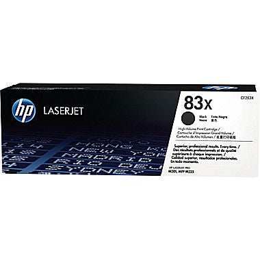 HP HP 83X (CF283X) Black Original LaserJet Toner Cartridge (2200 Yield)