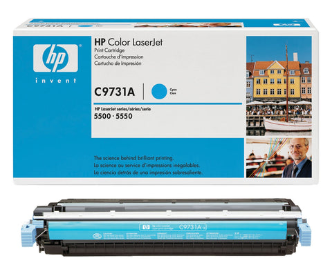 HP 645A (C9731A) Cyan Original LaserJet Toner Cartridge (12000 Yield)