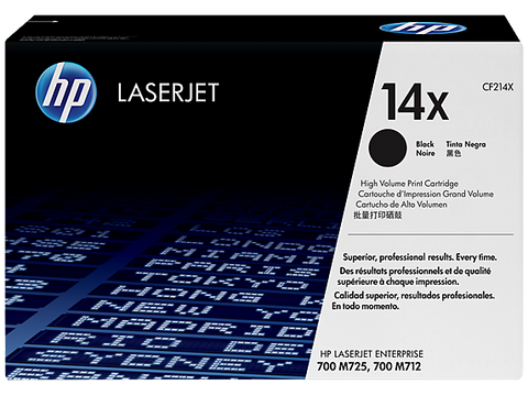 HP 14X (CF214XC) LaserJet Enterprise 700 M712 MFP M725 High Yield Original LaserJet Contract Toner Cartridge (17500 Yield)