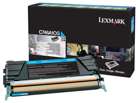 Lexmark Cyan Return Program Toner Cartridge (7000 Yield)