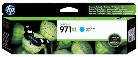 HP 971XL (CN626AM) High Yield Cyan Original Ink Cartridge (6600 Yield)