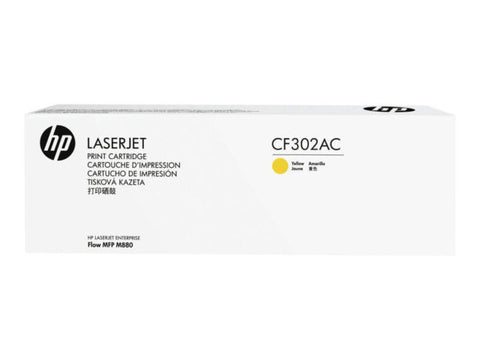 HP 827A (CF302AC) Color LaserJet Enterprise flow M880 MFP Yellow Original LaserJet Contract Toner Cartridge (32000 Yield)