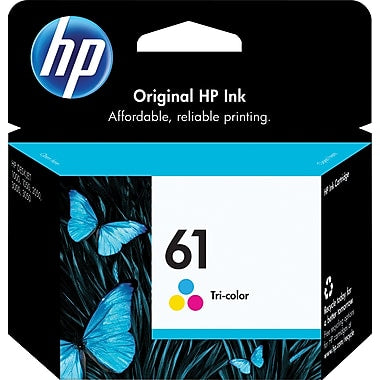 HP 61 (CH562WN) Tri-Color Original Ink Cartridge (165 Yield)