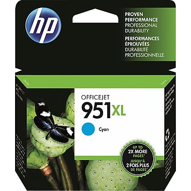 HP 951XL (CN046AN) High Yield Cyan Original Ink Cartridge (1500 Yield)