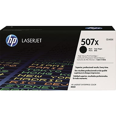 HP 507X (CE400X) Color LaserJet M551 Enterprise 500 MFP M570 M575 M575c High Yield Black Original LaserJet Toner Cartridge (11000 Yield)