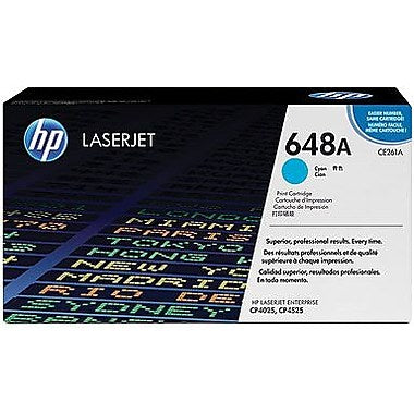 HP 648A (CE261A) Color LaserJet CP4025 CP4525 Cyan Original LaserJet Toner Cartridge (11000 Yield)