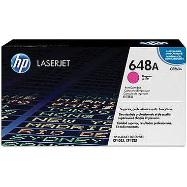 HP 648A (CE263A) Color LaserJet CP4025 CP4525 Magenta Original LaserJet Toner Cartridge (11000 Yield)