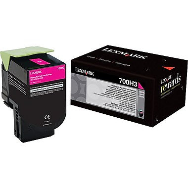 Lexmark (700H3) CS310 CS410 High Yield Magenta Toner Cartridge (3000 Yield)