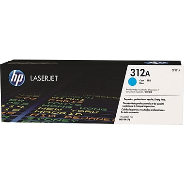 HP 312A (CF381A) Color LaserJet Pro MFP M476 Cyan Original LaserJet Toner Cartridge (2700 Yield)