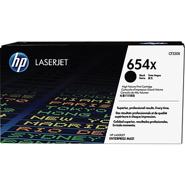 HP 654X (CF330X) LaserJet Enterprise M651 High Yield Black Original LaserJet Toner Cartridge (20500 Yield)