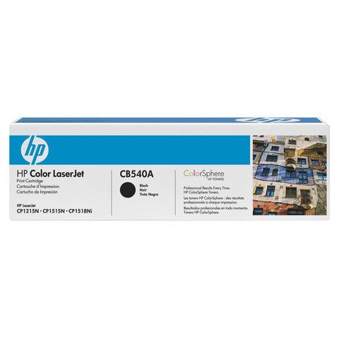 HP HP 125A (CB540A) Black Original LaserJet Toner Cartridge (2200 Yield)