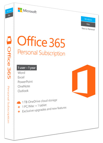 Microsoft Corporation  Office 365 Personal Subscription + Exclusive Upgrades and New Features