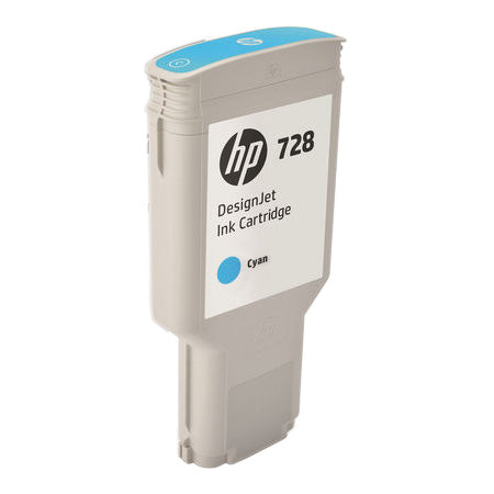HP 728 (F9K17A) Cyan Original Ink Cartridge (300 ml)