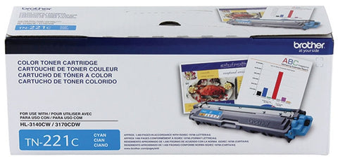 Brother HL-3140CW 3170CDW 3180CDW MFC-9130CW 9330CDW 9340CDW Cyan Toner Cartridge (1400 Yield)