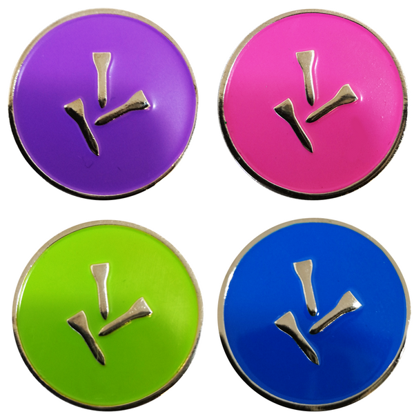Three Tee Ball Markers and Visor Clip Set - Golf Gifts UK - Golf wrapped up