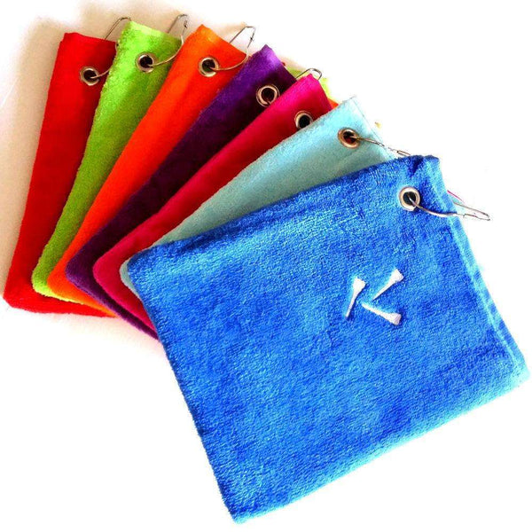 Luxury velour pouch towels - Golf Gifts UK - Golf wrapped up