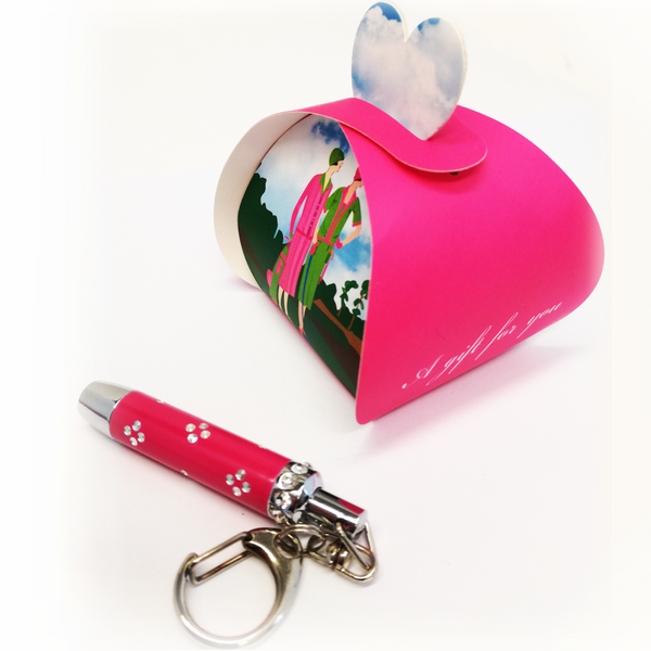 Crystal Torch and Keyring in Gift Box - Golf Gifts UK - Golf wrapped up