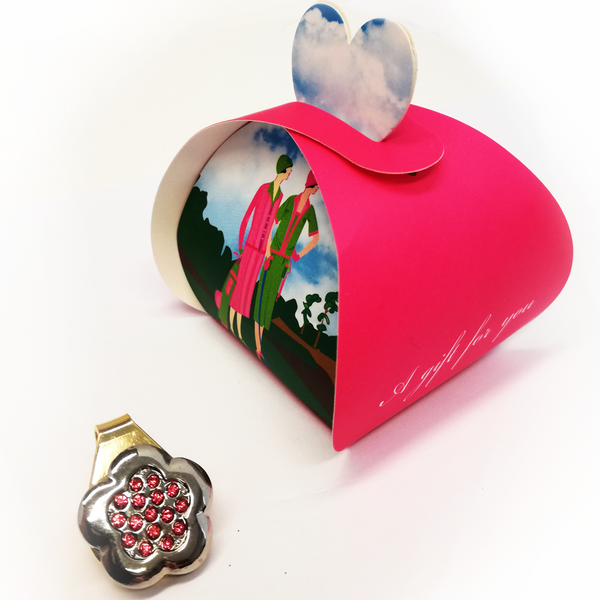 Rose Spring Clip Ball Marker in Gift Box - Golf Gifts UK - Golf wrapped up