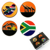 South Africa Ball Markers and Visor Clip set - Golf Gifts UK - Golf wrapped up