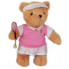 Tennis Teddy Bear - plain (girl) - Golf Gifts UK - Golf wrapped up