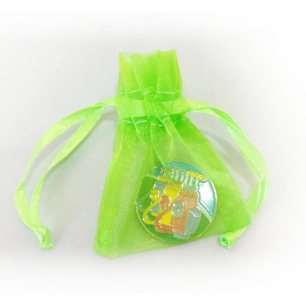 Art of Golf Ball Marker in Organza Bag - Golf Gifts UK - Golf wrapped up