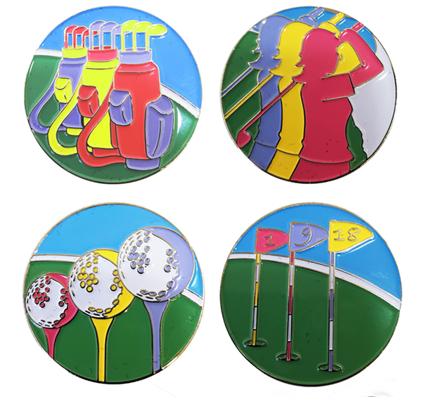 Art of Golf Ball Marker and Pencil in Presentation Sleeve - Golf Gifts UK - Golf wrapped up