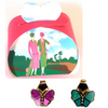 Butterfly Visor Clip in Art Deco Gift Box - Golf Gifts UK - Golf wrapped up