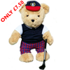 Golfing Boy Teddy Bear - Golf Gifts UK - Golf wrapped up