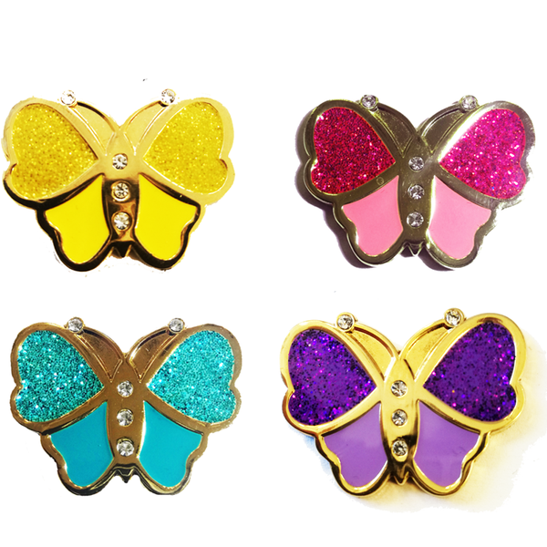 Sparkly Butterfly Ball Markers in Presentation Sleeve - Golf Gifts UK - Golf wrapped up
