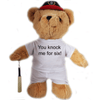 You Knock Me For Six Cricket Bear - Golf Gifts UK - Golf wrapped up