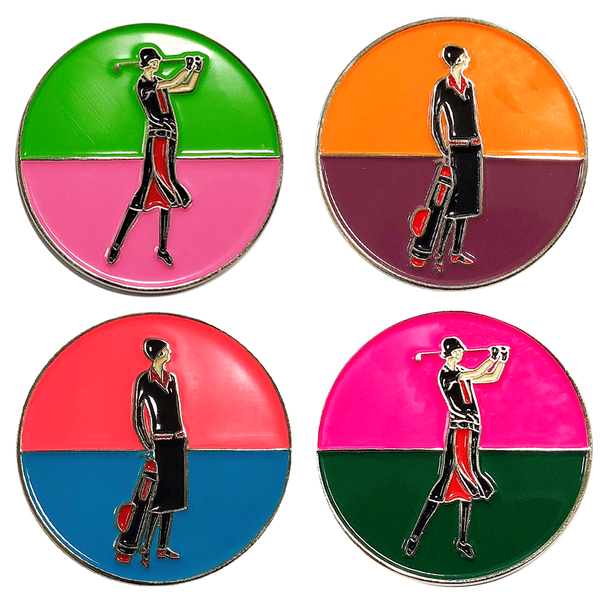 Art Deco Ball Markers in Presentation Sleeve - Golf Gifts UK - Golf wrapped up