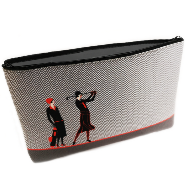Art Deco Clutch Bag with Handkerchief, Lavender Sachet, Flannel and Nail File - Golf Gifts UK - Golf wrapped up
