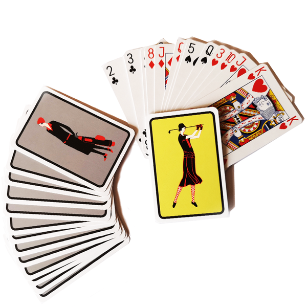 Playing Cards and Pen Leather Gift Set - Golf Gifts UK - Golf wrapped up